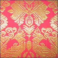 Red altar cloth (close up)