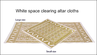 White space clearing altar cloths