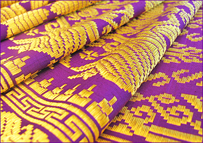 Purple altar cloth