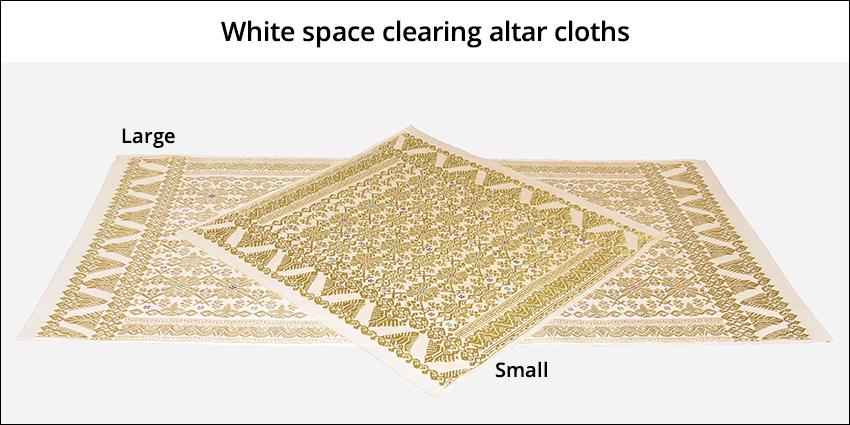 White altar cloths