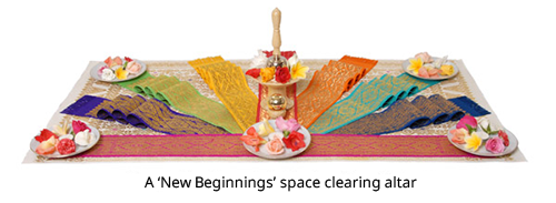 Space clearing altar